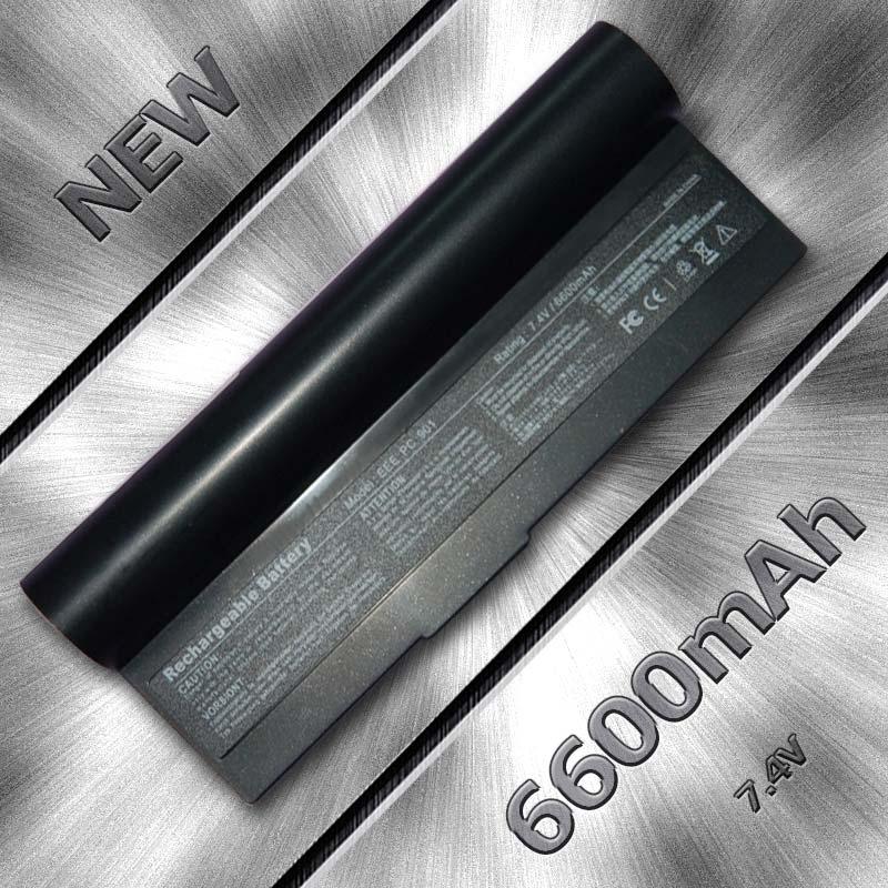 6 cells Laptop Battery For Asus AL23-901 AP23-901 Eee PC 1000 1000H 1000HA 1000HD 1000HE 901 904HD 7.4V 6600mAh(China (Mainland))