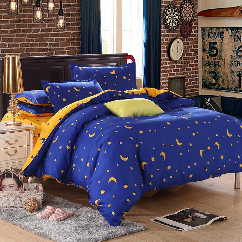 star moon bedding sets 3pcs 4pcs twin queen king stripe