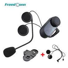 FreedConn T-COMVB Original Interphone Bluetooth Motorcycle Motorbike Helmet Intercom Headset+Extra Soft Earpiece+Bracket