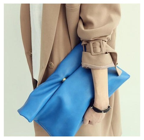South Korean style candy color Women's Clutches Simple fashion the classic women envelope bags clutch evening bag free shipping(China (Mainland))