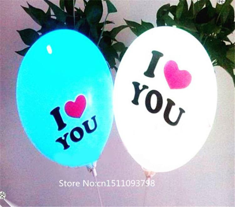Free shipping 50pcs/lot Logo printed illuminated LED balloon light up decorations for wedding/party 5color balloon 7 colors LED(China (Mainland))