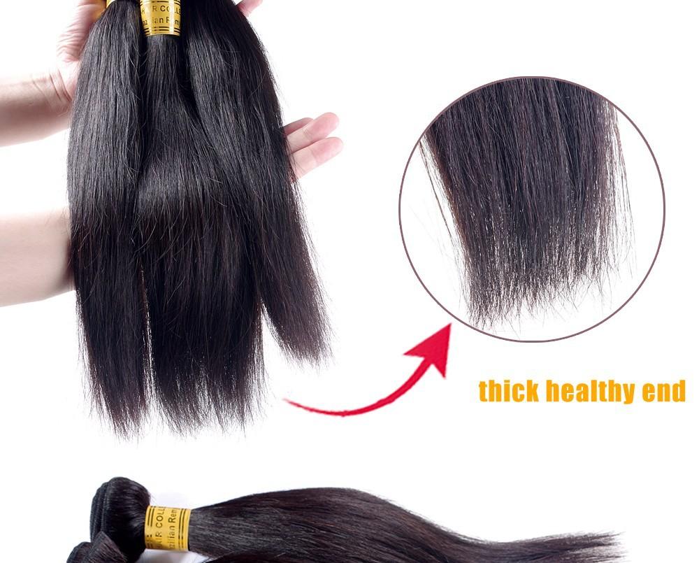 dhl free shipping remy virgin brazilian hair extension