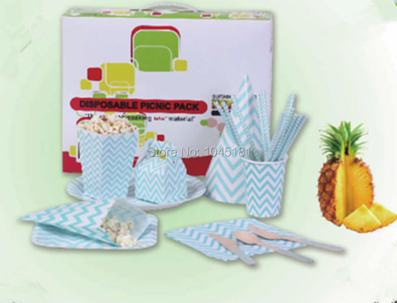 baby shower decor disposable tableware set in event party supplies