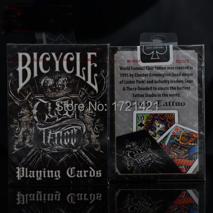 Classic bicycle club tattoo playing card high quality for Bicycle club tattoo deck