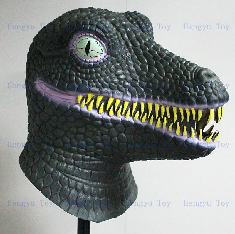 Amusement Park Artificial Animatronic Latex Dinosaur Mask For Sale(China (Mainland))