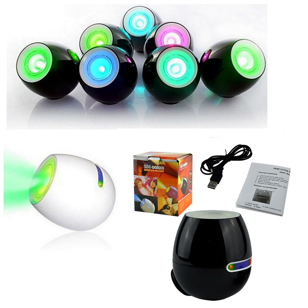 Creative 256 Colors LED Mood Lamp / Light Lighting with Touchscreen Scroll Bar Egg light LED Mood Light for Wedding Decoration(China (Mainland))
