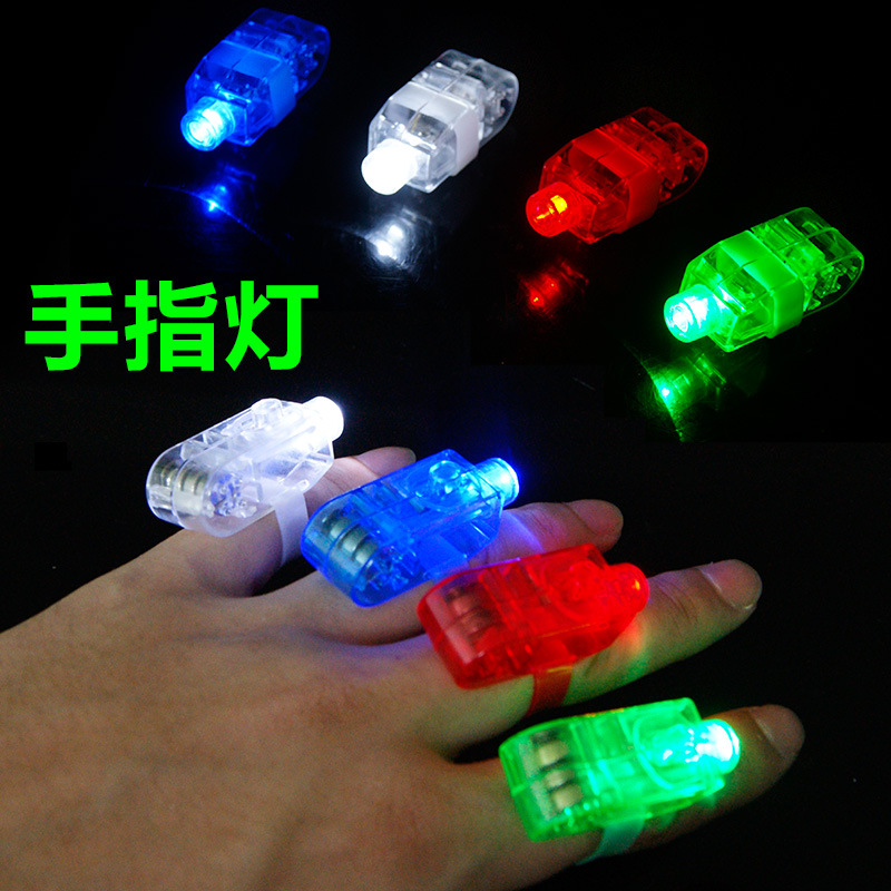 Pack of 4pcs LED Ring Lights Laser Finger Lamps 4 Colors Beam Colorful Light-up Toys For KTV Bar Party Gifts For Kids Children(China (Mainland))