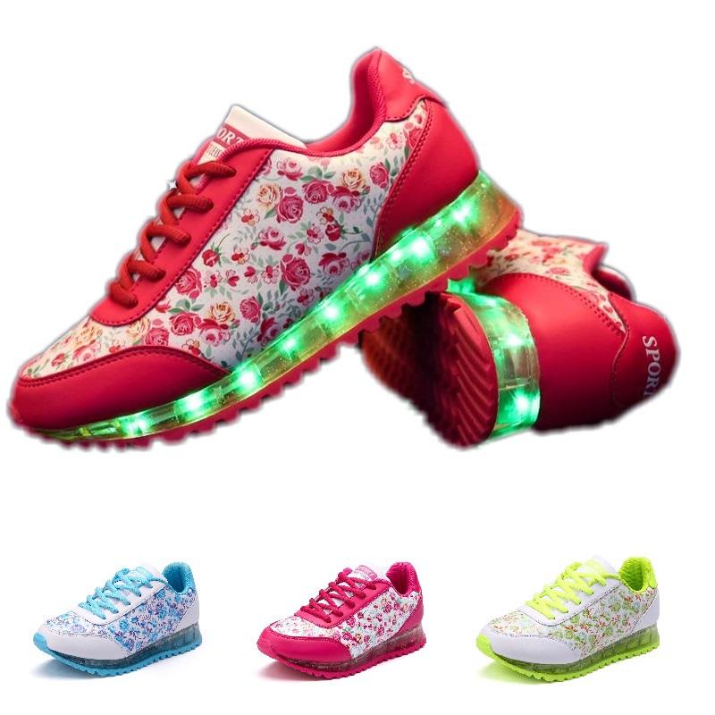 Excellent Light Up Shoes Colorful Luminous Shoes Fashion Men And Women Shoes USB