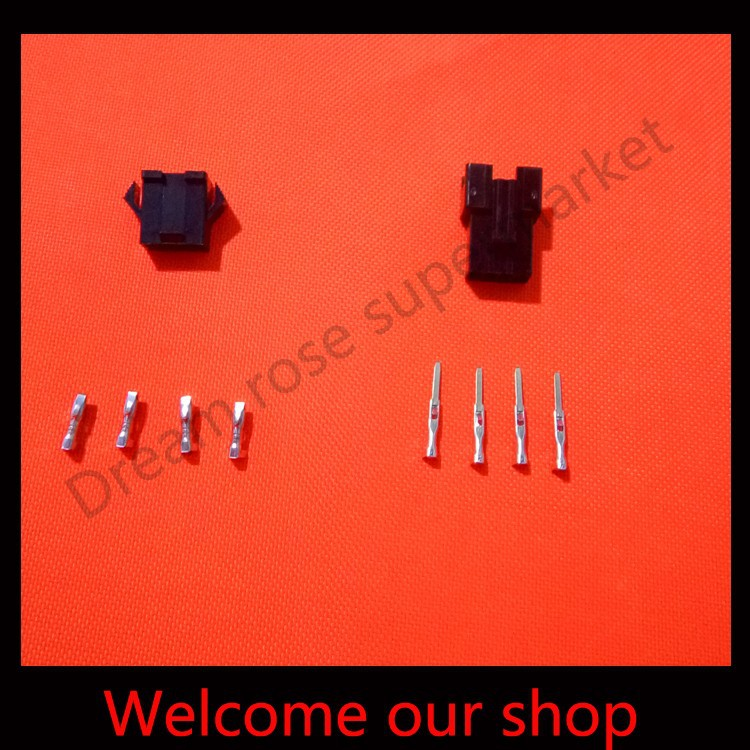 20 sets 4Pin/way 2.54mm SM-4P automobile wire connectors terminals Kit (male&amp;female Housing+Terminal) for car<br><br>Aliexpress