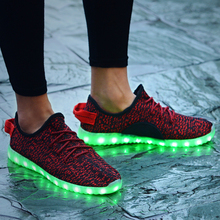 2017 Man New yeezy led Shoes light Up Colorful Flashing Fashion Shoes Casual Sneakers Night Leisure For Adult DHL Free Ship(China (Mainland))