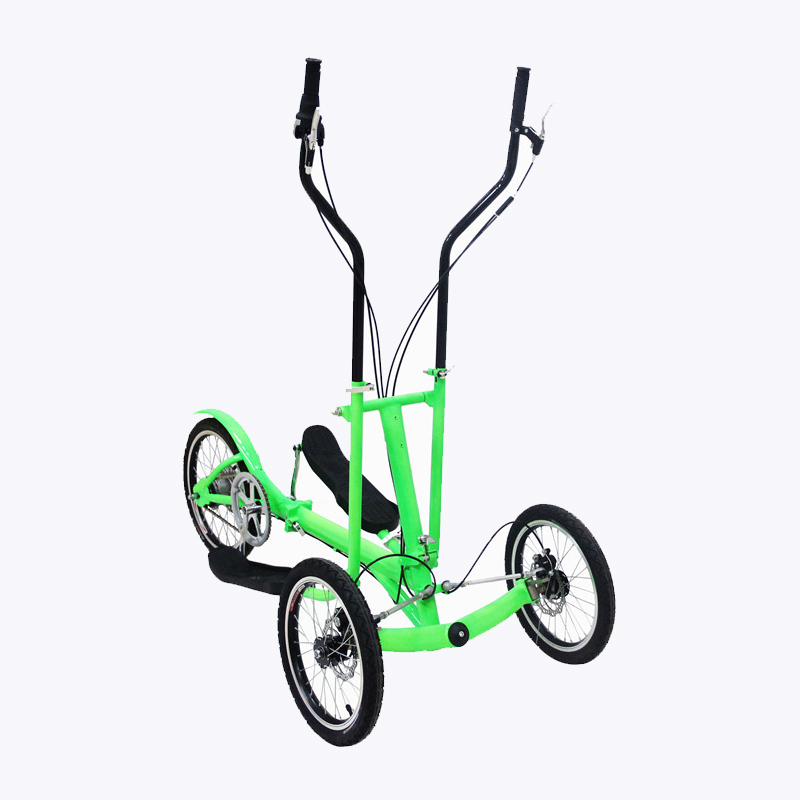 Free shipping (1speed) 3wheel folding scooter Aluminum frame trainer children bike adult bicycle streetramblego cross trainer(China (Mainland))