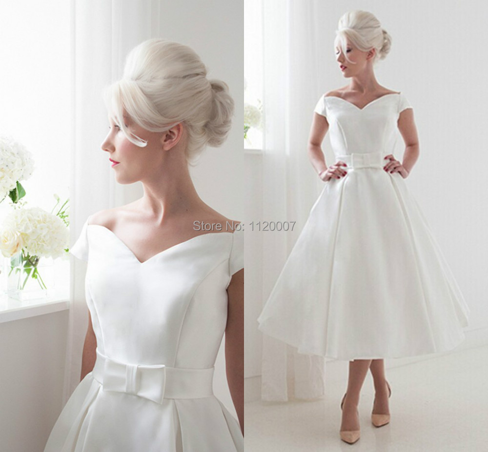 Romantic white with belt cap sleeves satin sexy beach for Cheap plus size tea length wedding dresses