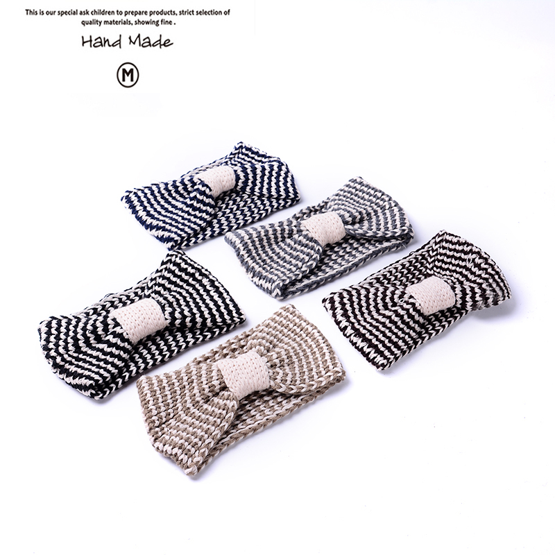 2016 New Hand made style Ear Winter Warm Headband Crochet Knitted Hairband Headwrap Hair Band Accessories For women FD074(China (Mainland))
