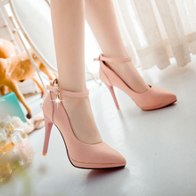 Hot sale ! Big Size 34-43 of 2015 fashion women shoes elegant Single shoes buckles decorated High heels BD-602
