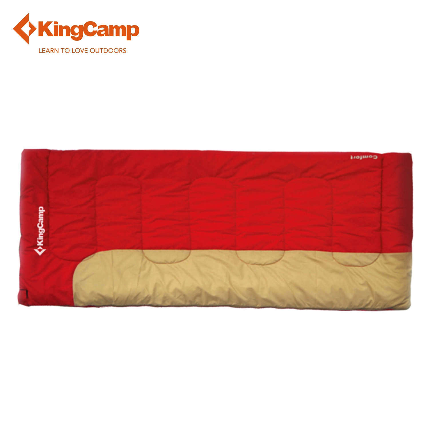KingCamp Comfort Envelope 10 Degree C/50 Degree F Flannel Lined Sleeping Bag for Camping Backpacking(China (Mainland))