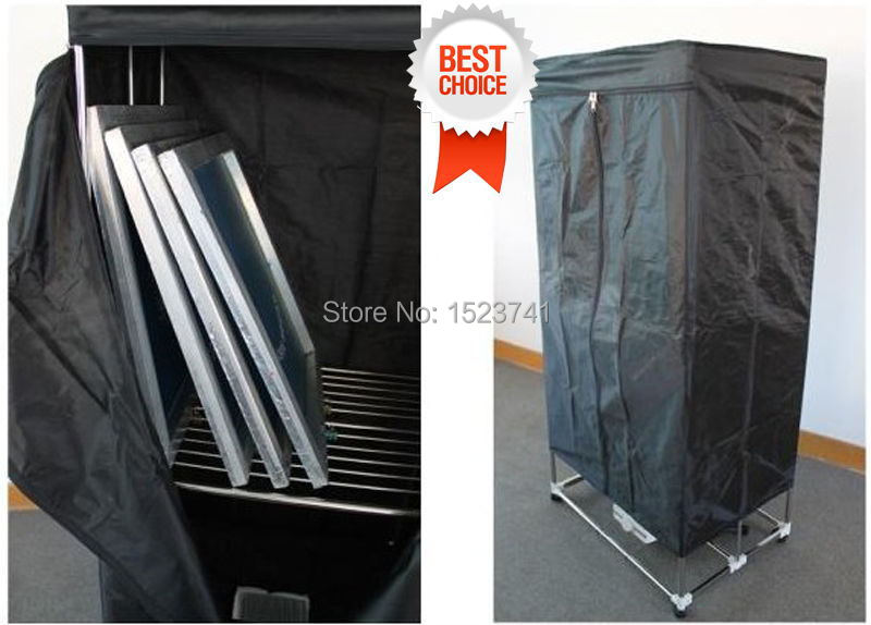 Hot sales! silk screen printing equipment screen drying cabinet assembly folding type easy operation plate making tool(China (Mainland))