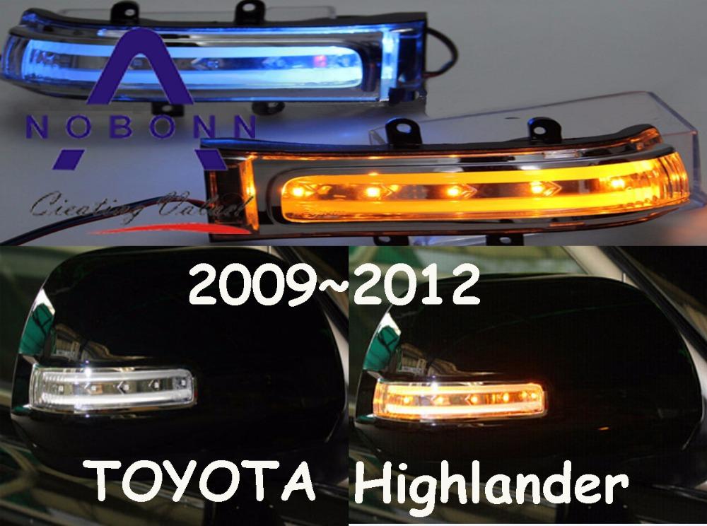 Free Ship!2009~2012 TOYOTA Highlander LED Re-view mirror light with Yellow,2pcs/set(1pcs L+1pcs R),5W 9~18V,excellent quality!<br><br>Aliexpress