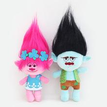 23-32cm Hot sale 2017 NEW Movie Trolls Plush Toy Poppy Branch Dream Works Stuffed Cartoon Dolls The Good Luck Trolls Christmas G(China (Mainland))