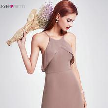 Элегантные платья Ever Pretty EP07130, длинное шифоновое платье А-силуэта с рюшами, 2020, платье для свадебной вечеринки(China)