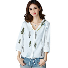 2016 Girls Kawaii Jacket Summer Hooded Sport Jackets Spring Autumn Loose Print 3/4 Sleeve Thin Coat White Tops Feminino A387