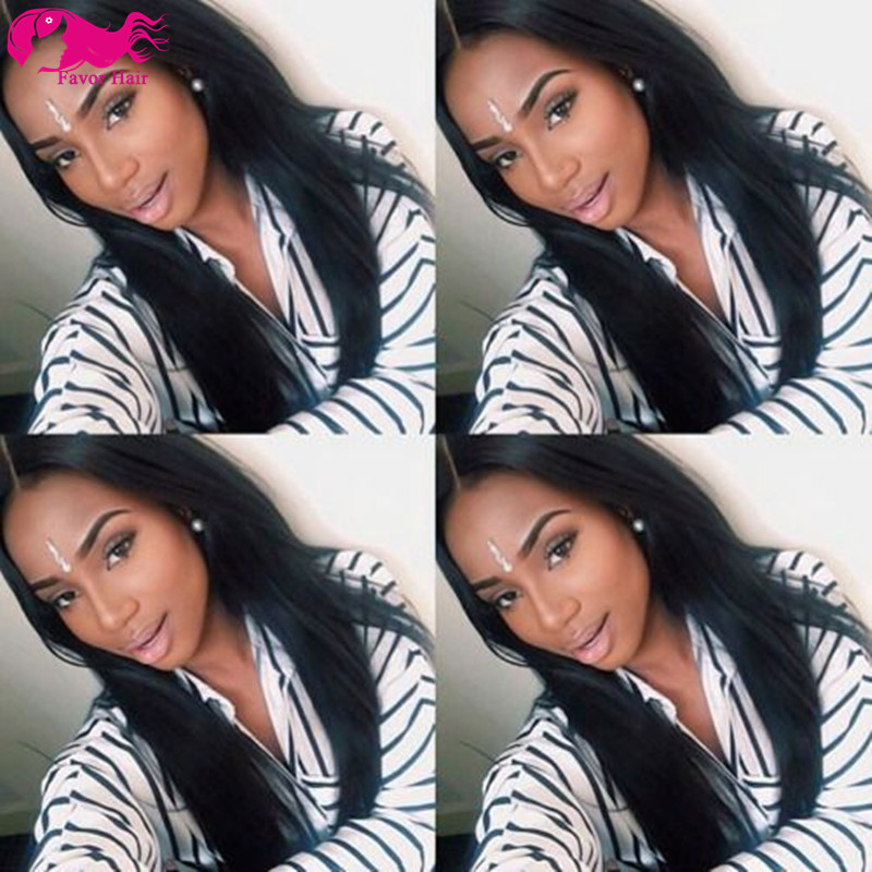 Full Lace Wig Silky Straight Lace Front Human Hair Wigs 7A Brazilian Full Lace Human Hair Wigs For Black Women 130% Density<br><br>Aliexpress
