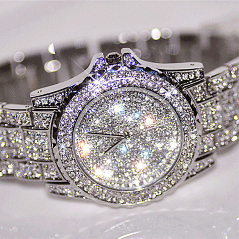 Splendid New Women Rhinestone Watches Lady Dress Women watch Diamond Luxury brand Bracelet Wristwatch Hours Crystal Quartz Clock<br><br>Aliexpress