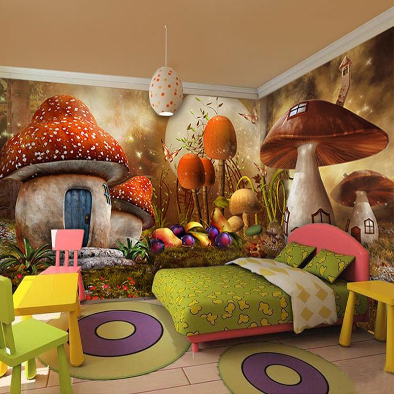 popular mushroom wallpaper buy cheap mushroom wallpaper lots from china mushroom wallpaper. Black Bedroom Furniture Sets. Home Design Ideas