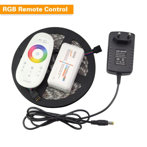 5M/Pack 5050 Black PCB Board RGB LED Strip Light 300 LEDs Tape Lamp + DC 12V 3A EU Power Adapter + WiFi Mi light Touch Remote(China (Mainland))