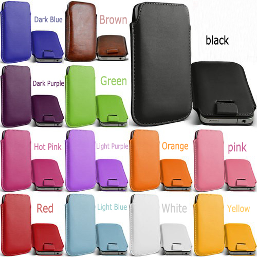 Free Shipping Leather PU phone bags cases 13 colors Pouch Case Bag for HTC Droid Incredible2 Accessories(China (Mainland))