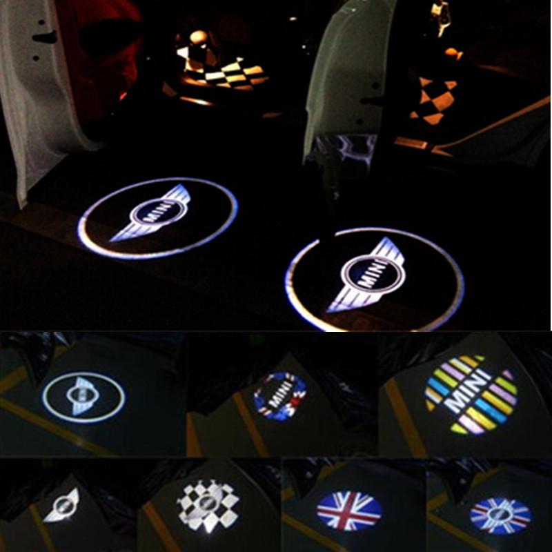 2pcs Mini Cooper One S R55 R56 R58 R59 R60 R61 F55 F56 Countryman Clubman Door laser l amp projector led lights car door light(China (Mainland))