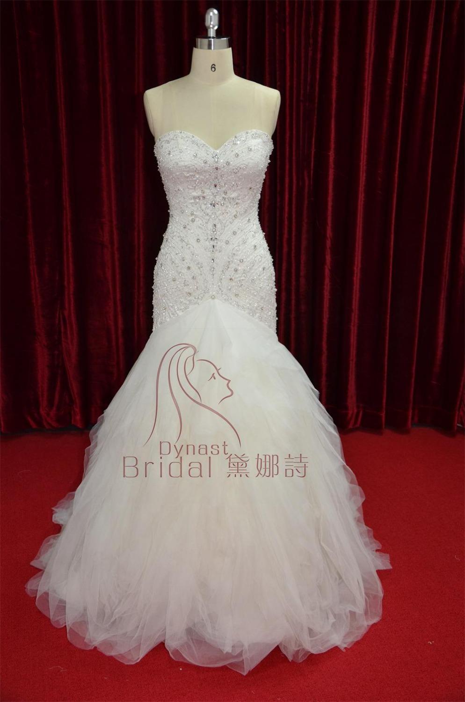 Bling Bling Sweetheart Sexy Mermaid Beaded Wedding Bridal
