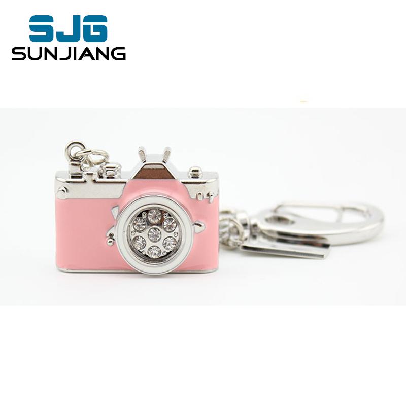 fashion mini metal Camera pen drive usb flash drive 64gb pink 8gb 16gb 32gb 4gb high quality U Disk pendrive hot gift for girl(China (Mainland))