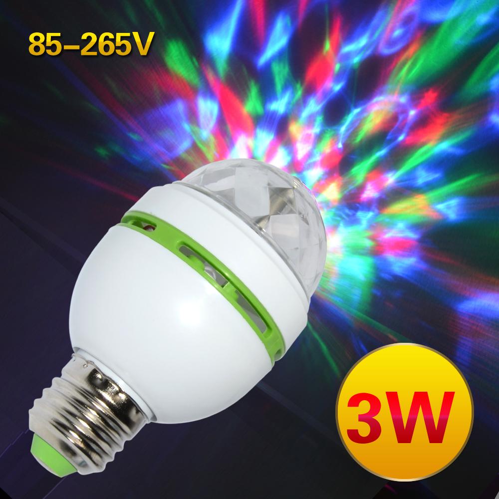 rgb led bulb stage light disco dj party lamp 85 265v holiday bulb. Black Bedroom Furniture Sets. Home Design Ideas