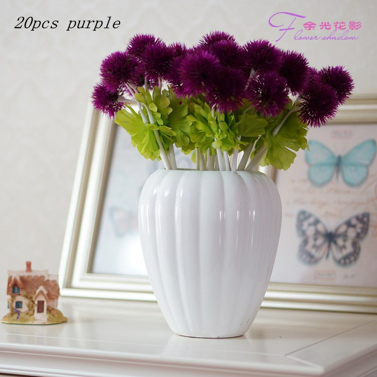 NEW Small grass ball flowers Artificial flower silk flowers home decor for wedding decoration gifts shooting were smashed(China (Mainland))