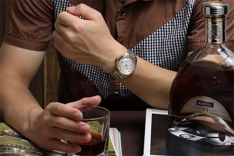 Роскошные Мужчины Наручные Часы Автоматические Часы Мужчины Авто Дата GUANQIN мужские Часы Водонепроницаемые Человек Моды Случайные Часы Relogio Masculino