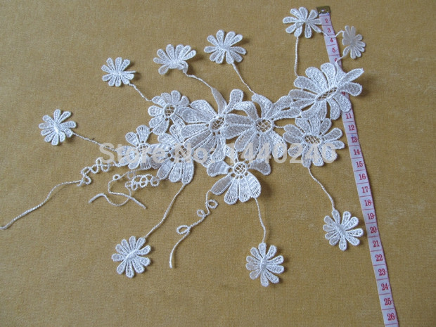 Cm wide hot embroidery white black flower tulle lace fabric trim