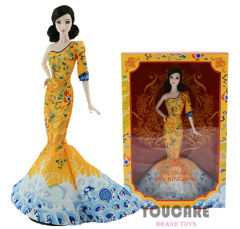 Original Genuine Brand Barbie Collector Fan Bingbing Doll BCP97 Celebrity Barbie Doll child Toys New Year Gift(China (Mainland))