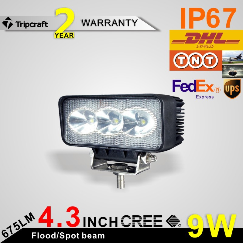 Фотография 50% discount 1PC 9W 12V 24V Auto Led Lamp Work Light Offroad Light Bar 4x4 SUV Trailer Interior & Exterior Lamp