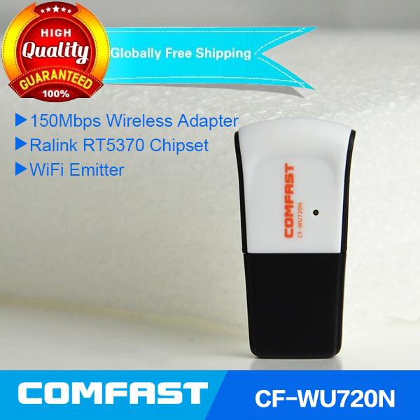 Free shipping Comfast CF-WU720NV2.0 ralink RT5370 mini usb wifi 150mbps wireless adapter 802.11n/g/b usb wifi dongle(China (Mainland))