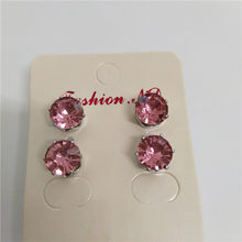 2018 new Luxury brand fashion jewelry Austrian colors crystal earrings for women stud earrings for girls birthday gift(China)