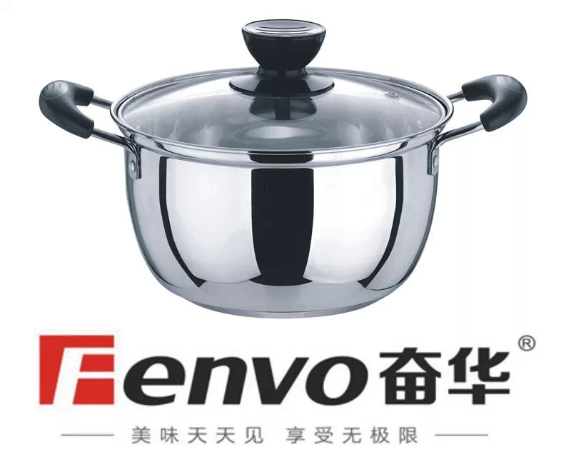 16-24cm Hight Quality Stainless Steel Stock Pot with Glass Lid,soucepan(China (Mainland))