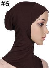 20 видов цветов мусульманин хиджаб исламский короткие хиджабы для женщин мусульманский Внутренний cap исламского Абая Дубай Кафтан наивысше...(China)
