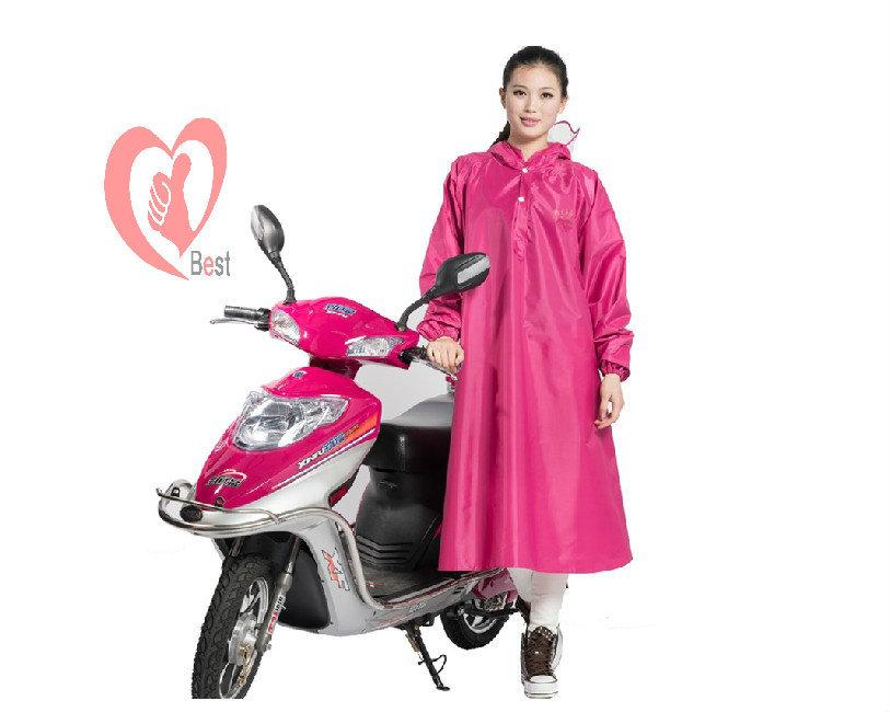 moto impermeabile multicolore di seta ispessimento poncho usa e getta impermeabile lungo - manicotto fibbia trasporto libero(China (Mainland))