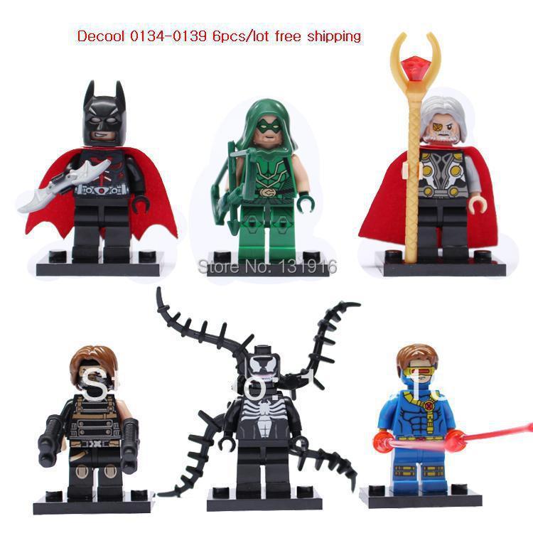 DECOOL *0134-139* Super Heroes Avengers ODIN VENOM WINTER SOLDIER CYCLOPS Minifigures building Blocks Toys compatible legao - Online Store 131916 store