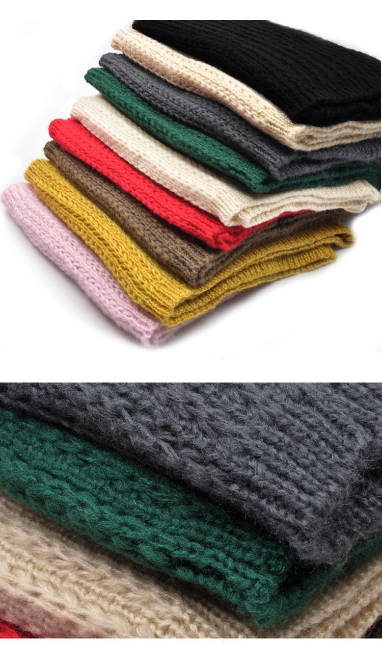 Fashion 2015 Winter New Women Warm Knit Neck Circle Wool Cowl Snood Long Pullover Scarf Shawl Wrap For Women