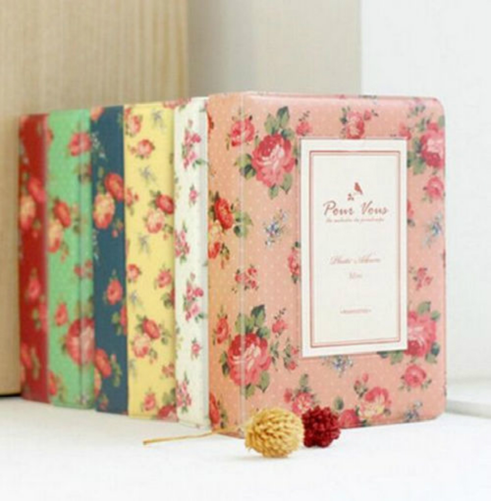 FD2743 Vintage Sweet Mini Photo Album <font><b>Book</b></font> 64 Pockets For Fuji Instax <font><b>Polaroid</b></font>