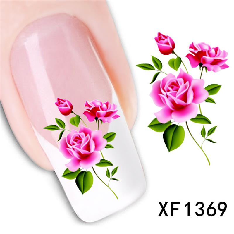 XF flower nail stickers nail accessories nail nail stickers watermark wholesale XF1369<br><br>Aliexpress