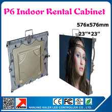 Indoor smd p6 led cabinet full color advertising rental led display board 576*576mm indoor led video wall screen(China (Mainland))