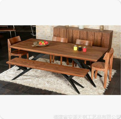 American Retro Bar Table Desk Iron Wood Tables And Chairs Hotel Coffee Table Dining Table