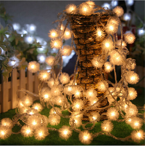 Snow-Ball 10M 100PCS LED Fairy String Light AC110V 220V For Valentine Party Christmas Wedding New Year Indoor&outdoor Decoration(China (Mainland))